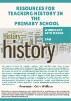 **** CANCELLED **** - Resources for Teaching History in the Primary School - 21LCSP41
